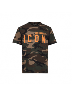 DSQUARED2 T-SHIRT ICON CAMO...